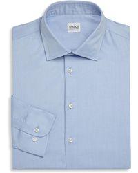 Armani - Slim-fit Solid Dress Shirt - Lyst