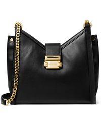 MICHAEL Michael Kors - Whitney Small Leather Crossbody Bag - Lyst
