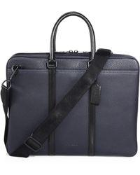COACH - Metropolitan Pebbled Leather Briefcase - Lyst