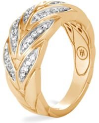 John Hardy - Modern 18k Gold & Diamond Chain Ring - Lyst