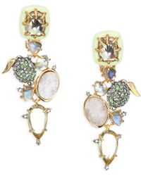 Alexis Bittar | Elements Crystal & Gemstone Cluster Clip-on Earrings | Lyst