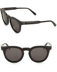 8ca45849421d Loewe - Women s Lw40003u 51mm Round Sunglasses - Black - Lyst