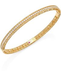Roberto Coin - Symphony Braided Diamond & 18k Yellow Gold Bracelet - Lyst