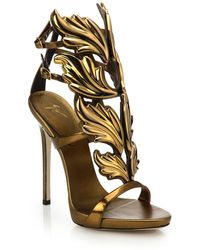 Giuseppe Zanotti - Metallic Leather Wing Sandals - Lyst