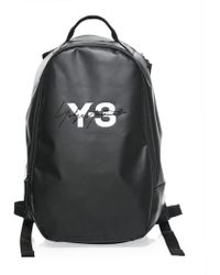 24d16adc6e99 Y-3 Black Nylon Ultratech Reflective Grey Backpack in Black for Men ...
