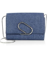 3.1 Phillip Lim - Alix Soft Flap Denim Chain Clutch - Lyst