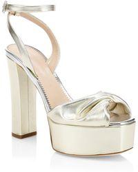 Giuseppe Zanotti - Lavinia Metallic Leather Ankle-strap Sandals - Lyst