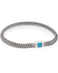 John Hardy - Classic Chain Extra Small Turquoise & Sterling Silver Bracelet - Lyst