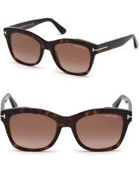 Tom Ford - 52mm Lauren Tortoise Sunglasses - Lyst