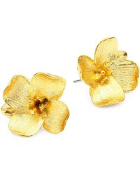 Kenneth Jay Lane - Flower Earrings - Lyst