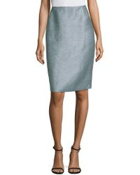 Lafayette 148 New York - Twill Weave Pencil Skirt - Lyst