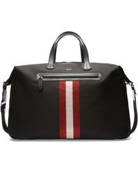 Bally - Stripe Zip Briefcase - Lyst