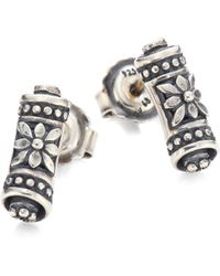 Konstantino - Penelope Sterling Silver Scroll Earrings - Lyst