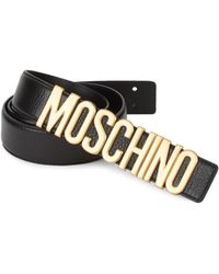 Moschino - Logo Leather Belt - Lyst