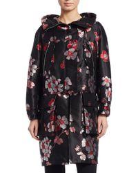Emporio Armani - Floral Jacquard Coat - Lyst