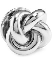 David Donahue - Sterling Silver Double Knot Lapel Pin - Lyst