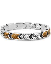 David Yurman - Chevron Woven Bracelet With Tigers Eye - Lyst