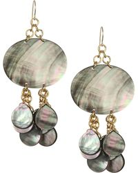 Nest - Mother-of-pearl & 24k Goldplated Drop Earring - Lyst