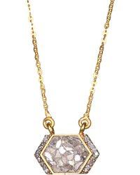 Shana Gulati - Neora 18k Gold, Diamond & Vermeil Pendant Necklace - Lyst
