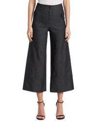 Cinq À Sept - Seamed Denim Culottes - Lyst