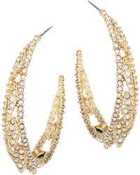 Alexis Bittar - Elements Crystal Hoop Earrings/1.5 - Lyst