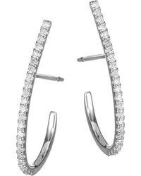 Meira T - 14k White Gold & Diamond Post Earrings - Lyst