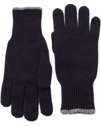 Brunello Cucinelli - Cashmere Ribbed Gloves - Lyst