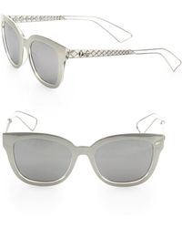 c24dced99b922 Dior - Women s Ama 1 52mm Square Sunglasses - Silver - Lyst