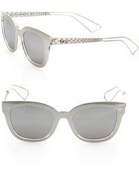 0ad59f6e32331 Dior - Women s Ama 1 52mm Square Sunglasses - Silver - Lyst