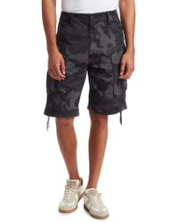 G-Star RAW - Rovic Loose Camouflage Shorts - Lyst