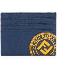 Fendi - Stamp Leather Card Case - Lyst