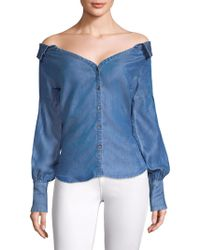 Ella Moss - Anastasia Denim Top - Lyst