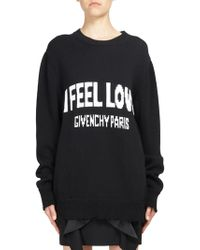 Givenchy - I Feel The Love Cotton Sweatshirt - Lyst