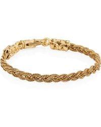 Emanuele Bicocchi - 24k Goldplated Sterling Silver Braided Bracelet - Lyst