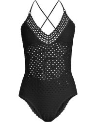 Robin Piccone - Women's Chira Crochet One-piece Swimsuit - Black - Size 2 - Lyst