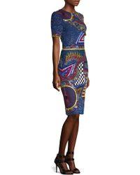 Alice + Olivia - Nat Embellished Sheath Dress - Lyst