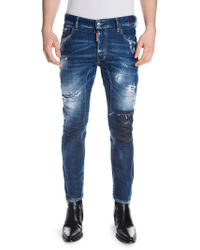 DSquared² - Light Worked Slim Fit Jeans - Lyst