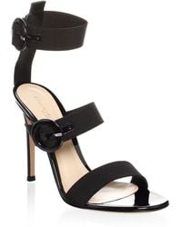 4db62a2394377 Proenza Schouler Xmm Leather Ankle-wrap Sandals in Black - Lyst