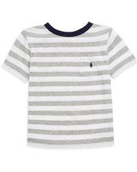 Ralph Lauren - Little Boy's & Boy's Striped Pocket Tee - Lyst