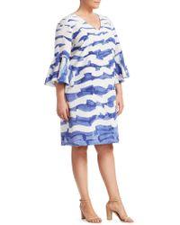 Lafayette 148 New York - Holly Wavy-print Dress - Lyst