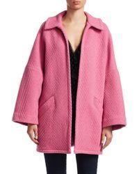 Rachel Comey - Husk Open Front Chevron Wool Coat - Lyst