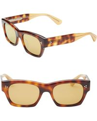 6a5c35f026a Burberry 58mm Check-print Wayfarer Sunglasses in Brown for Men - Lyst
