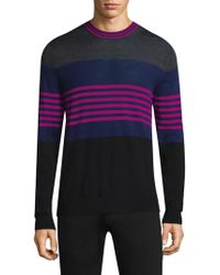 Paul Smith - Multi-stripe Crewneck Wool Sweater - Lyst