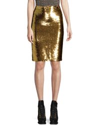 Alice + Olivia - Ramos Sequin Embellished Skirt - Lyst