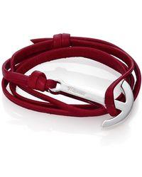 Miansai - Modern Anchor Leather Wrap Bracelet - Lyst
