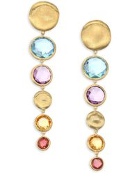 Marco Bicego - Jaipur Semi-precious Multi-stone Graduated Drop Earrings - Lyst