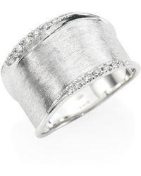Marco Bicego | Lunaria Small Diamond & 18k White Gold Ring | Lyst