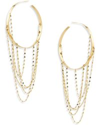 Lana Jewelry - Bond Large Blake 14k Yellow Gold Vanity Hoop Earrings/2 - Lyst