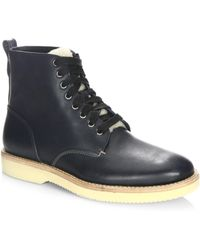 COACH - Shearling Derby Boots - Lyst