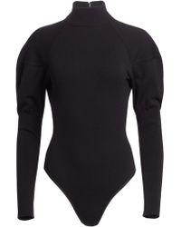 Alaïa - Gigot Sleeve Turtleneck Bodysuit - Lyst
